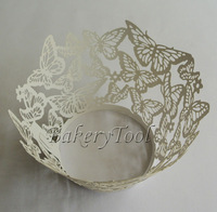 white wedding butterfly decoration 48 pcs lace cupcake wrapper paper soap mold cake stand baking supplies