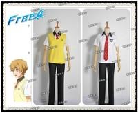 New Arrival Free! Iwatobi Swim Club Nagisa Hazuki Boy School Summer Uniform Cosplay Costume Anime Character