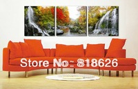 3 Panel Modern Canvas Beautiful Painting Landscape Wall Hunging Picture Home Decor Mountain Red Tree Print Pt660
