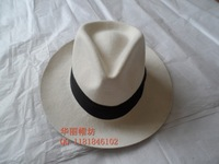Lihua pure wool fedoras large brim hat fashion vintage fedoras cap plus size white billycan