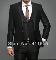 free shipping custom made cheap men's formal suits business dress wedding groom man wear tuxedos