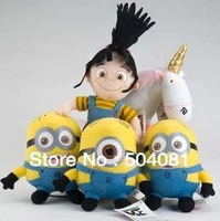"""Despicable ME Movie Plush dolls anime Toy 10 inch"""" 25cm Minion Jorge Stewart Dave NWT with tags 3D eyes baby funny toys for Kids"""