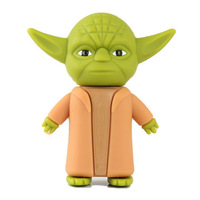 New arrival Hotsale star war Yoda warrior model usb flash drive/usb stick/memory/pen drive4GB 8GB 16GB 32GB