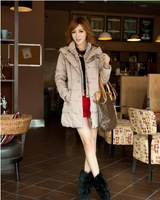 Free shipping ! NEW 2013 Winter brand Women's thickening coat medium-long slim Women white duck fashion down outerwear M-XXXL