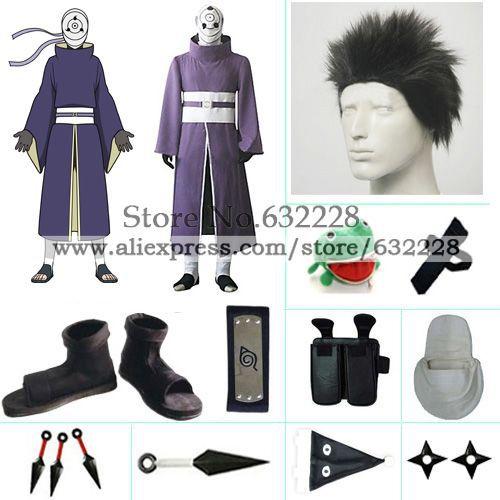 Naruto Uchiha Madara Rinnegan Cosplay Costume set with wig China    Uchiha Madara Rinnegan Cosplay
