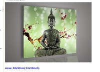 Religion Buddha Green Wall Art Oil Painting On Canvas Large Cheap Living Room Picture Pictures Decor