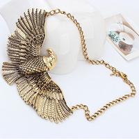 Min order is $10 Fashion bronze vintage fashion chain personalized short design necklace 0795