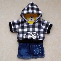 Original hanger build a bear duffy bear clothes skull sweatshirt set