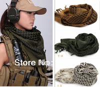 Army Military Tactical Unisex Arab Shemagh KeffIyeh Cotton Shawl Scarves Hunting Paintball Head Scarf  Face Mesh Bandanas Wrap