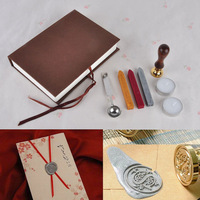 Free Shipping cheap sale personality sealing stamps, ancient wax seal deluxe suit, Sealing wax stamp, 26 letters can choose
