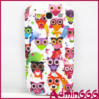 2013 New Lovely Colorful Cartoon Owl TPU Gel Silicone Case Cover Skin For Samsung Galaxy S3 I9300