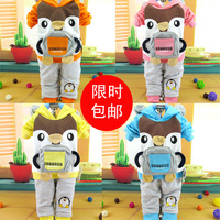 Infant clothes cartoon penguin long-sleeve clothes children's clothing baby autumn child set 01 2