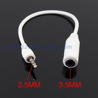 2.5mm 3.5mm converter cable earphones mp3 mp4 audio jack converter cable converter