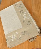 220x220cm square tablecloth embroidered massifs tassel