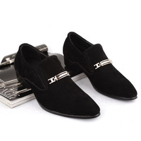 Pointed toe leather male foot fashion men's wrapping nubuck leather fashion shoes pedal lounged shoes male