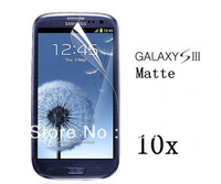 10pcs Retail price! Galaxy S3 I9300 Screen protector / High Quality Crystal Clear Galaxy S3 I9300 Screen guard + Package +