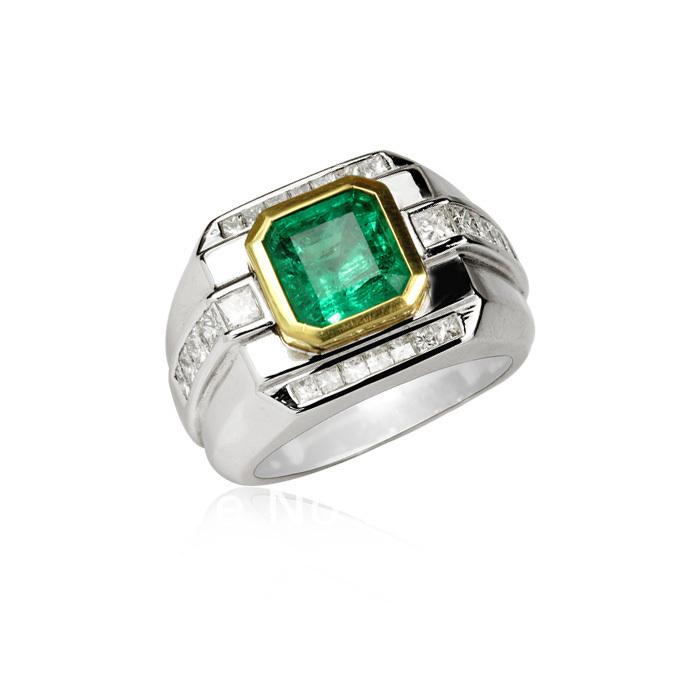 Emerald Rings For Men Emerald Man Rings S925