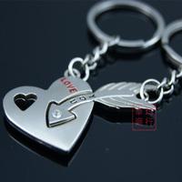 Couple key chain alloy key chain cartoon couple key chain keychain
