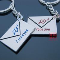 Envelope couple key chain keychain logo keychain gift
