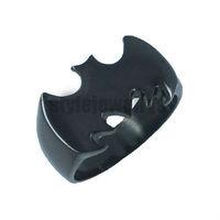 Free shipping! Cool Black Batman Ring Stainless Steel Jewelry Fashion Motor Biker Ring SWR0007B