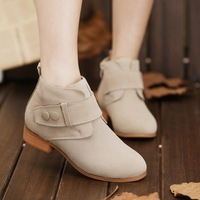 2013 Gentlewomen fashion vintage spring and autumn thick heel genuine leather martin boots, free shipping