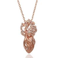 God Fairy Necklace 18K Gold Plated Nickel Free  Rhinestone Crystal Fashion Amulet Jewellery 18KGP N100