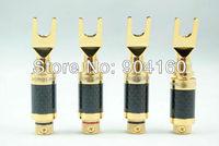HIFI Club wholesale online HIFI DIY Acrolink CF-201G Carbon Fiber with 24K Gold plated Y spade plug