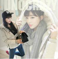 Meso ncler2013 tooling thickening swandown plush knitted hat female short down coat 9999 design