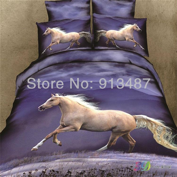 Online get cheap horse quilt patterns - Housse de couette motif cheval ...