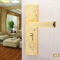 Chinese antique LOCK Lucky flower is orchid! PVD Gold door lock handle room door bathroom door all kinds of wooden door bp05