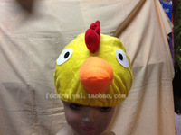 Wholesale 3pcs/lot,halloween latex mask Chick hat cartoon animal hat cute hat short plush animal hat wigs  ,free shipping
