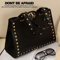 Big bags women's handbag fashion bag punk rivet bag handbag shoulder bag messenger bag PU