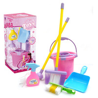 Free shipping baby products Child toy set furniture 2 3 baby cleaning tool little girl toy
