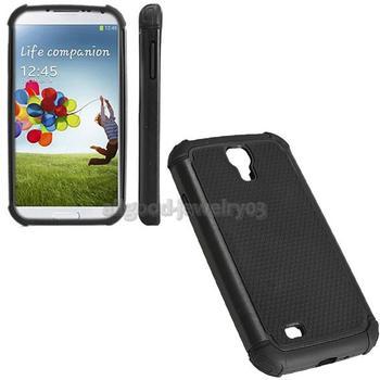 E#A1 Stylish Silicone Hard Cellphone Case Back Cover for Samsung I9500 S4 Black