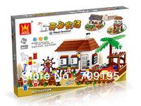 Enlighten Child 34204N DIY educational toys WANGE bricks farm animals toys 483 PCS Assembles Particles Block Toys Free Shipping