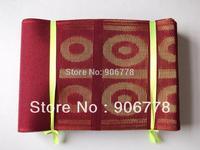 aso-oke headtie with free shipping,7 inch X 690 inch,Nigeria aso oke headwrap,wine color