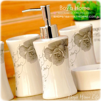 Fashion elegant ceramic bathroom set bathroom boutique set wedding gifts