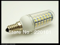 Wholesale 5PCS 80 LEDs SMD3528 E14 LED Corn Light Cold White SMD3528 LED Bulb Lamp 220V/4W Free shipping
