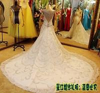 2013 sparkling sexy wedding dress bandage tube top train wedding dress bride xj26