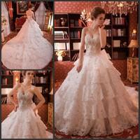 2013 sparkling sexy wedding dress bandage train wedding dress bride xj160