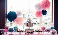 "20cm(8"") paper flowers Tissue Paper Pom Poms wedding decoration Craft for Parties 50pcs/lot 13 colors for choose ball flower"