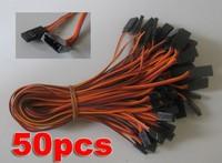 Free ship 300mm Servo Extension Lead wire cable for JR.Futaba 50pcs/lot.JR male plug and Futaba female plug servo connection
