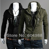 New Korean male fashion jacket men's leisure jacket coat high quality M-XXL free shipping