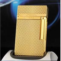100% new broke dupont lighter gold diamond textured genuine quality