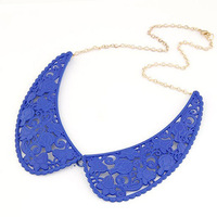 fluorescent color false collar hollow angel wings necklace wholesale SM694