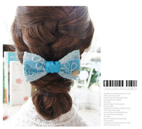 Free Shipping/  Beautiful vintage Eugen yarn embroidery, bowknot hairpin hairpin hair headdress