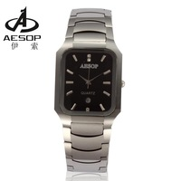 Aesop quartz watch waterproof mens watch tungsten steel square ladies watch lovers quartz watch male women's watch