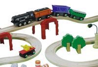 Original imaginarium wool magnetic trainmen compatible brio thomas wood logs