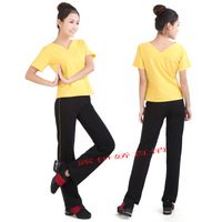 V-neck clothing v straight pants yoga clothing callisthenics fitness clothing performance wear set