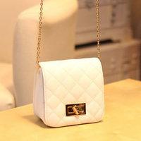 Small bags 2014 women's handbag color block mini embroidery plaid bag one shoulder bag cross-body  women  messenge bags